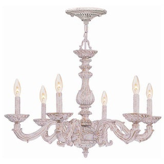 Crystorama Sutton 6-light Antique White Chandelier