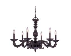 Crystorama Sutton 6-light Venetian Bronze Chandelier - Thumbnail 1