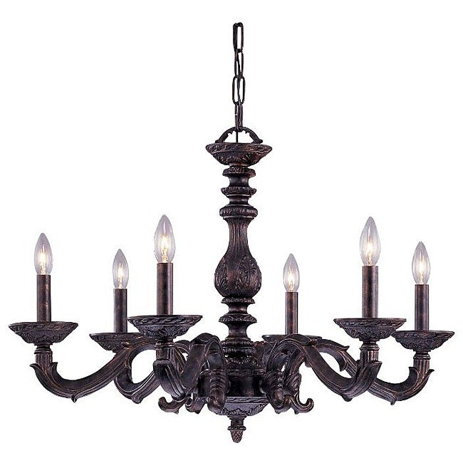 Crystorama Sutton 6-light Venetian Bronze Chandelier