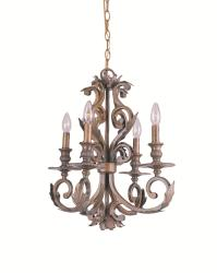Royal 4-Light Florentine Bronze-Finish Wrought-Iron Chandelier