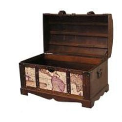 Shop old world victorian treasure chest styled wood trunk free thumbnail old world victorian treasure chest styled wood trunk gumiabroncs