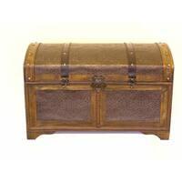 Nostalgic Treasure Chest Styled Wood Trunk