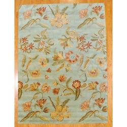 Herat Oriental Indo Hand-tufted Tibetan Wool Rug (8' x 11')