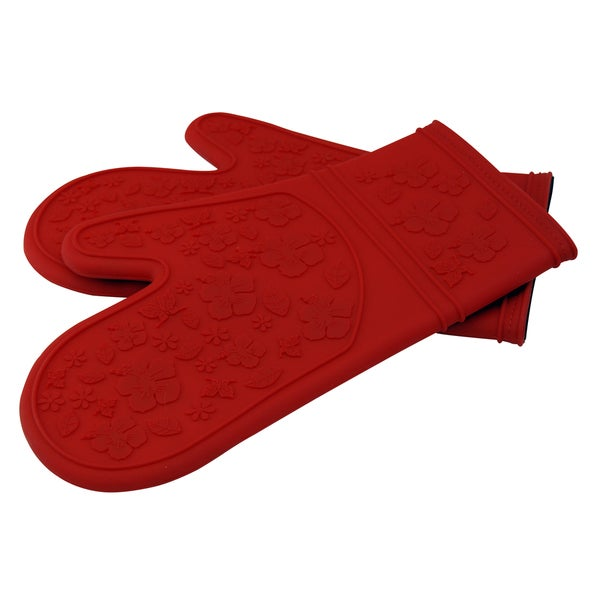 Le Chef Ultra Flex Silicone Padded Kitchen Oven Mitt Set (Pack Of 2)