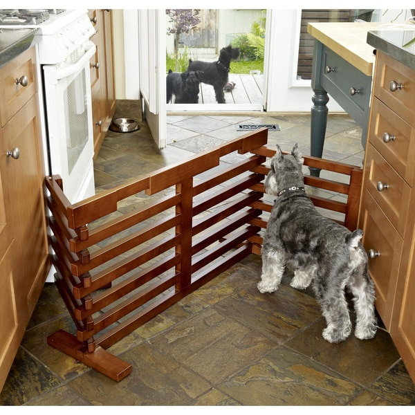 Merry Products Wooden Gate-n-Crate Folding Pet Gate - Free ...