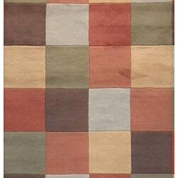 Indo Hand-tufted Multi-color Wool Rug (8' x 10') - Thumbnail 1