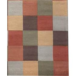 Indo Hand-tufted Multi-color Wool Rug (8' x 10') - Thumbnail 2