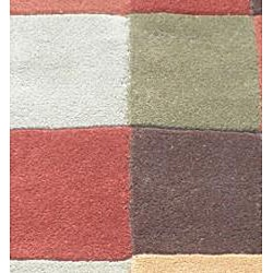 Indo Hand-tufted Multi-color Wool Rug (2' x 3') - Thumbnail 1
