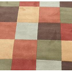 Indo Hand-Tufted Multi-color Wool Rug (8' Round) - Thumbnail 1
