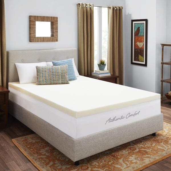 Shop Authentic Comfort 3 Inch Memory Foam Mattress Topper Free