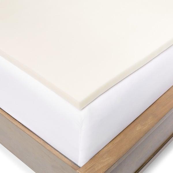 Shop Slumber Solutions 1 inch Memory Foam Mattress Topper   On