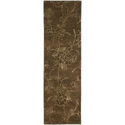 Safavieh Handmade Soho Fall Brown New Zealand Wool Runner (2'6 x 8')