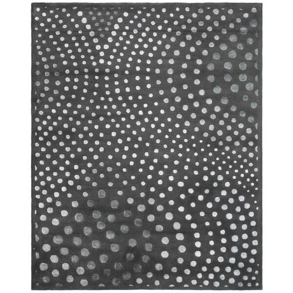 """Safavieh Handmade Soho Abstract Wave Dark Grey Wool Rug - 9'-6"""" x 13'-6"""""""