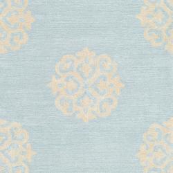 Safavieh Handmade Soho Medallion Light Blue N. Z. Wool Runner (2'6 x 14')