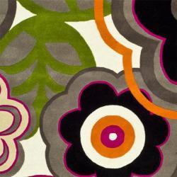 Safavieh Handmade Flower Power Ivory/ Multi N. Z. Wool Rug (9'6 x 13'6) - Thumbnail 2