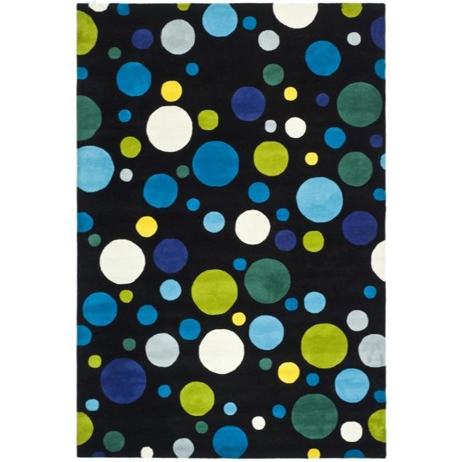 Safavieh Handmade Soho Bubblegum Black/ Multi N. Z. Wool Rug - 9'6 x 13'6