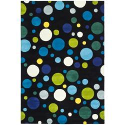 Safavieh Handmade Soho Bubblegum Black/ Multi N. Z. Wool Rug - 9'6 x 13'6 - Thumbnail 0