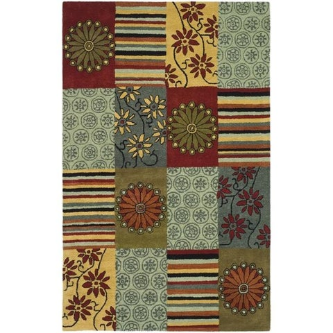 "Safavieh Handmade Soho Patchwork Multi New Zealand Wool Rug - 3'6"" x 5'6"""