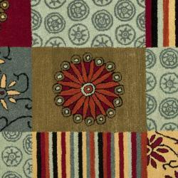 Safavieh Handmade Soho Patchwork Multi New Zealand Wool Rug (3'6 x 5'6') - Thumbnail 2