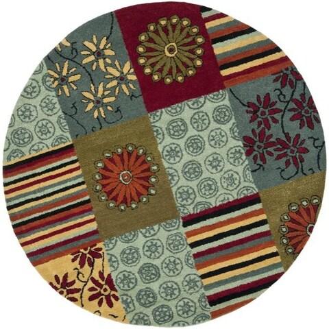 Safavieh Handmade Soho Patchwork Multi New Zealand Wool Rug - 6' x 6' Round