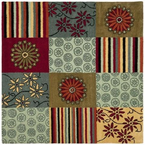 Safavieh Handmade Soho Patchwork Multi New Zealand Wool Rug - 6' x 6' Square