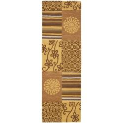 "Safavieh Handmade Soho Patches Beige/ Multi N. Z. Wool Runner (2'6 x 12') - 2'6"" x 12' - Thumbnail 0"