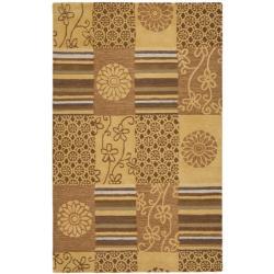 Safavieh Handmade Soho Patches Beige/ Multi N. Z. Wool Rug - 7'6 x 9'6 - Thumbnail 0