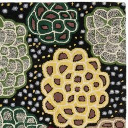 Safavieh Handmade Soho Expand Black/ Multi N. Z. Wool Rug (6' Square) - Thumbnail 1