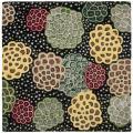 Safavieh Handmade Soho Expand Black/ Multi N. Z. Wool Rug (6' Square) - 6'