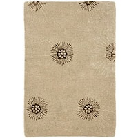 Safavieh Handmade Soho Zen Beige/ Brown New Zealand Wool Rug - 2' x 3'
