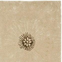 Safavieh Handmade Soho Zen Beige/ Brown New Zealand Wool Rug (6' Square) - Thumbnail 1