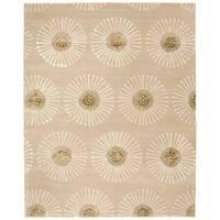 """Safavieh Handmade Soho Zen Beige/ Brown New Zealand Wool Rug - 7'-6"""" x 9'-6"""""""