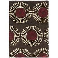 Safavieh Handmade Soho Zen Coffee/ Brown New Zealand Wool Rug - 2' x 3'