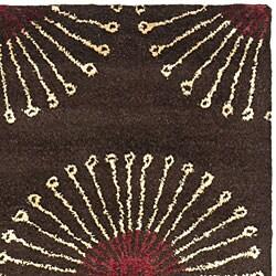 Safavieh Handmade Soho Zen Coffee/ Brown N. Z. Wool Runner (2'6 x 8')