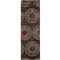 "Safavieh Handmade Soho Zen Coffee/ Brown N. Z. Wool Runner - 2'-6"" x 8'"