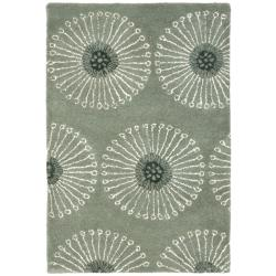 Safavieh Handmade Soho Zen Grey/ Ivory New Zealand Wool Rug (2' x 3')