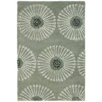 Safavieh Handmade Soho Zen Grey/ Ivory New Zealand Wool Rug - 2' x 3'