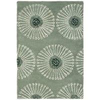 Safavieh Handmade Soho Zen Grey/ Ivory New Zealand Wool Rug - 2' X 3'