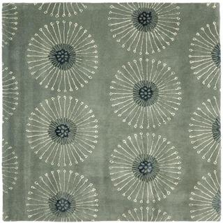 Safavieh Handmade Soho Zen Grey/ Ivory New Zealand Wool Rug (6' Square)