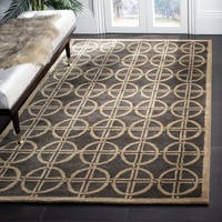 Safavieh Handmade Soho Eternal Deco Grey/ Green N. Z. Wool Rug - 5' x 8'