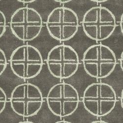 Safavieh Handmade Soho Eternal Deco Grey/ Green N. Z. Wool Rug (7'6 x 9'6) - Thumbnail 2