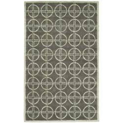 Safavieh Handmade Soho Eternal Deco Grey/ Green N. Z. Wool Rug - 7'6 x 9'6 - Thumbnail 0
