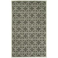 Safavieh Handmade Soho Eternal Deco Grey/ Green N. Z. Wool Rug - 7'6 x 9'6