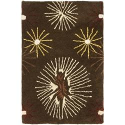 Safavieh Handmade Soho Voyage Brown/ Multi New Zealand Wool Rug (2' x 3')