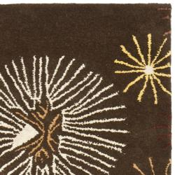 Safavieh Handmade Soho Voyage Brown/ Multi N. Z. Wool Runner (2'6 x 8') - Thumbnail 1