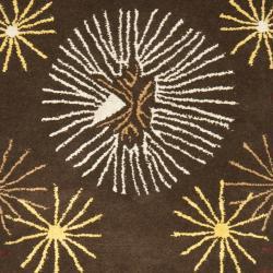 Safavieh Handmade Soho Voyage Brown/ Multi N. Z. Wool Runner (2'6 x 8') - Thumbnail 2