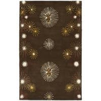 Safavieh Handmade Soho Voyage Brown/ Multi N. Z. Wool Rug - 3'6 x 5'6