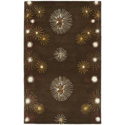 Safavieh Handmade Soho Voyage Brown/ Multi N. Z. Wool Rug - 7'6 x 9'6 - Thumbnail 0