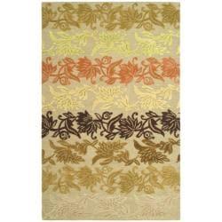 Safavieh Handmade Soho Passage Sage New Zealand Wool Rug (3'6 x 5'6')