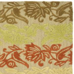 Safavieh Handmade Soho Passage Sage New Zealand Wool Rug (7'6 x 9'6) - Thumbnail 1